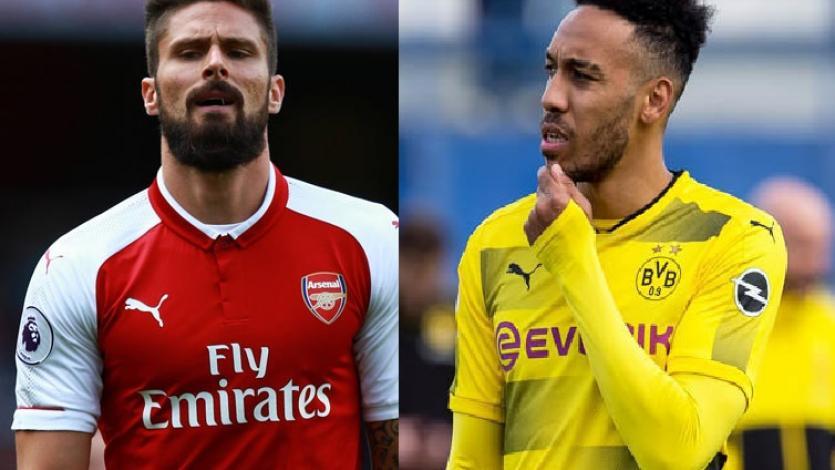 Arsenal incluiría a Giroud en la operación por Aubameyang