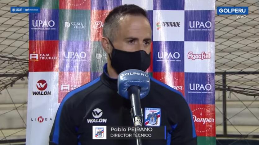 """Pablo Peirano tras el empate de Carlos A. Mannucci: """"En el segundo tiempo fuimos superiores"""""""