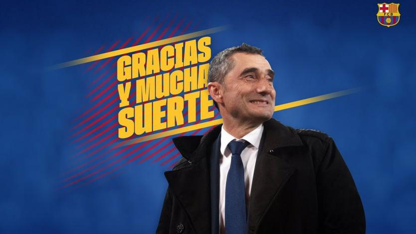 Barcelona despide a Ernesto Valverde y anuncia a su nuevo entrenador