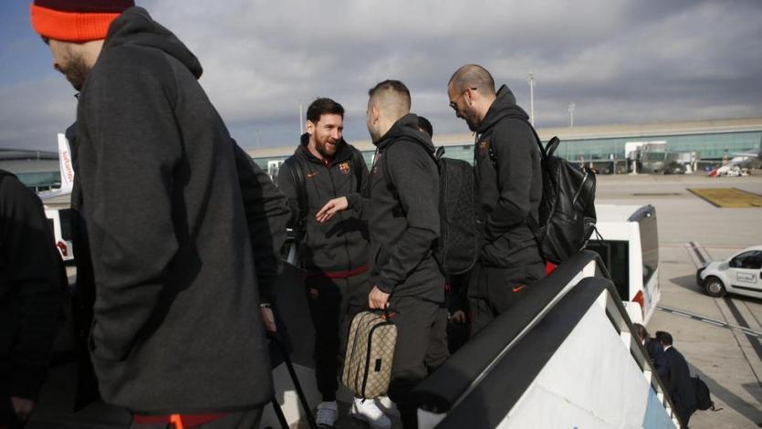 Barcelona llegó a Londres para enfrentar mañana a Chelsea