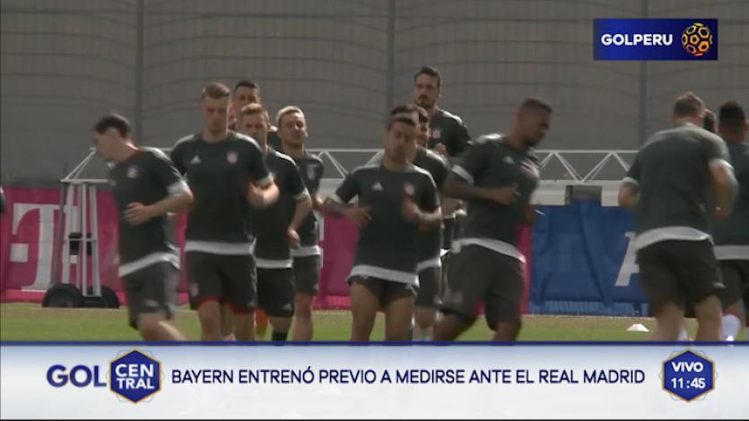 Bayern Munich entrenó con miras al choque de mañana ante Real Madrid