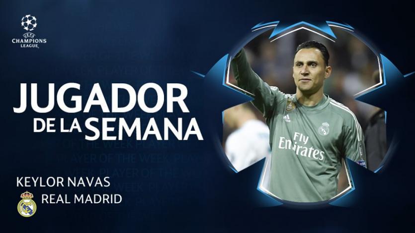 Champions League: Keylor Navas es elegido el jugador de la semana