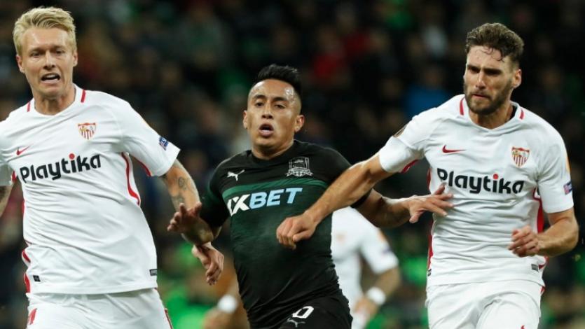 Europa League: Christian Cueva se lució en la victoria del Krasnodar