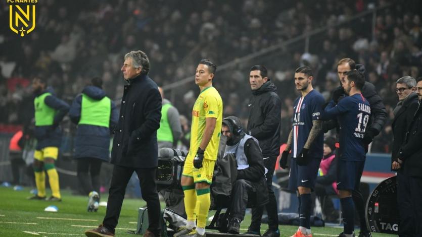 Cristian Benavente enfrentó al PSG en derrota del Nantes