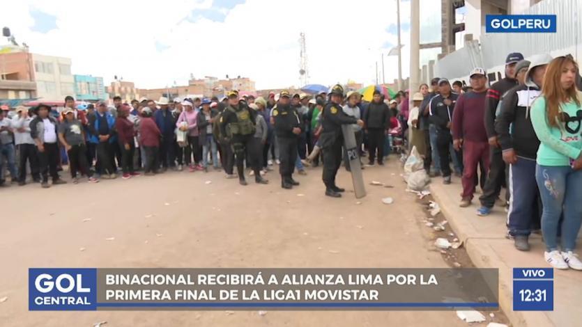 Binacional vs. Alianza Lima: Largas colas para conseguir una entrada para la gran final
