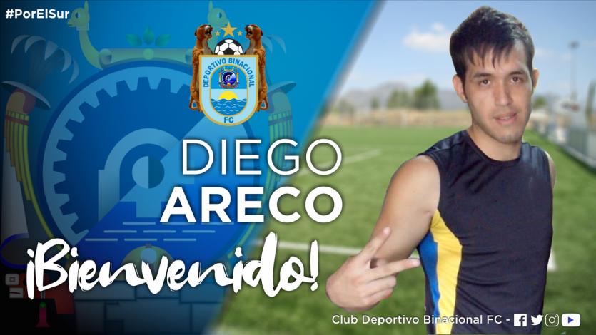 Deportivo Binacional fichó al delantero paraguayo Diego Areco