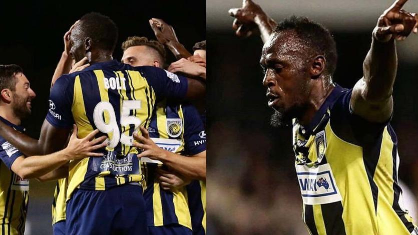 Usain Bolt marcó un doblete en la victoria del CC Mariners australiano