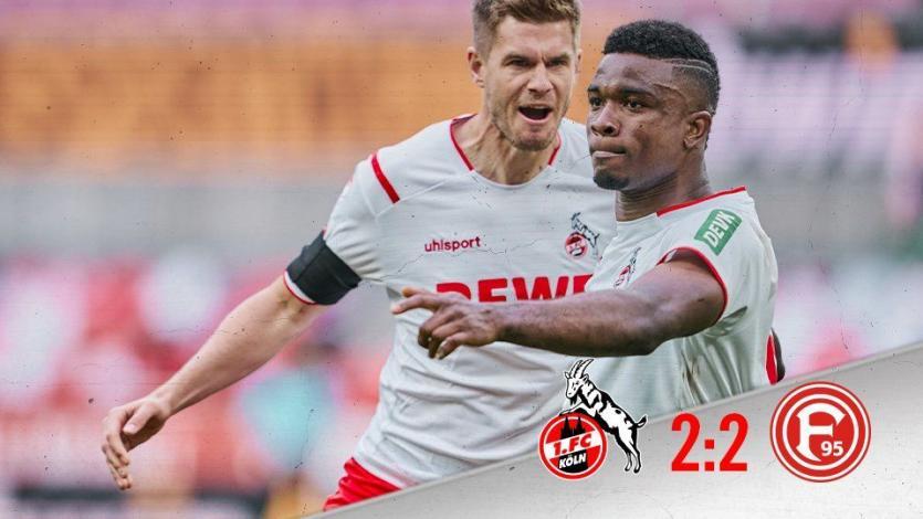 Bundesliga: Colonia rescata el empate frente a Dusseldorf en los minutos finales