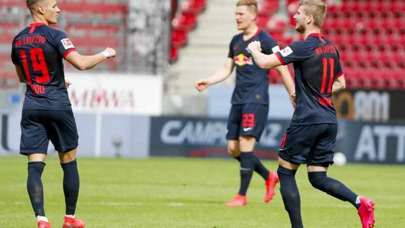 Bundesliga: Leipzig golea al Mainz de la mano de Timo Werner y se mete en la pelea