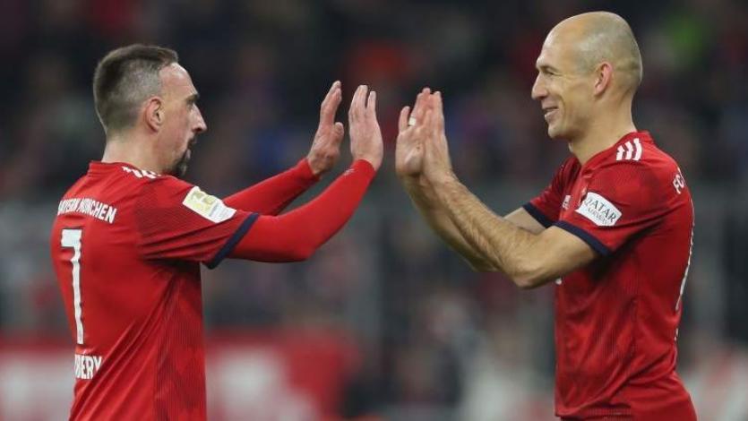 Fin de una era. Robben y Ribery no continuarán en el Bayern Múnich