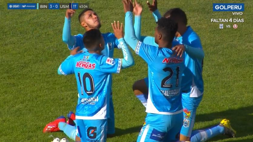 Goleada histórica: Binacional superó 6-0 a San Martín