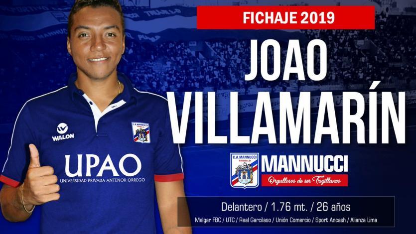 Carlos A. Mannucci se refuerza con Joao Villamarín