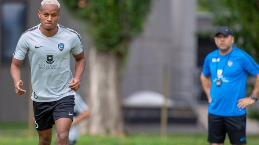 André Carrillo entrenó por primera vez con el Al Hilal