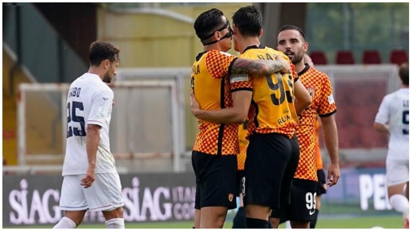 Gianluca Lapadula anotó su quinto gol para el Benevento