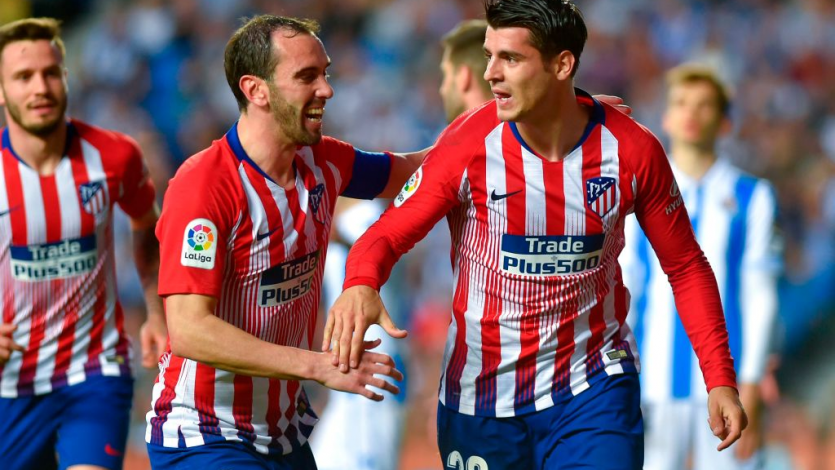 Con doblete de Álvaro Morata, Atlético superó a la Real Sociedad