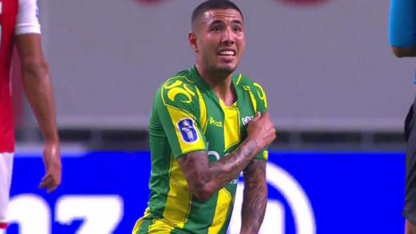 Sergio Peña fue titular en la Copa de Portugal