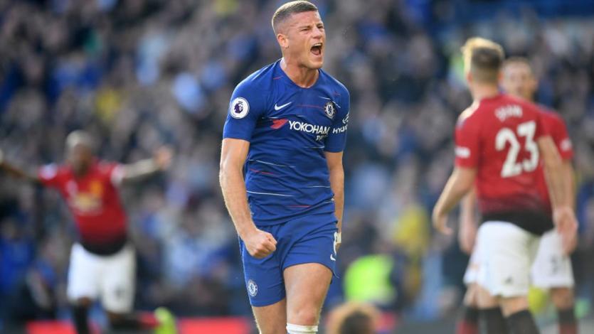 Chelsea y Manchester United igualaron 2-2 con gol agónico de Barkley