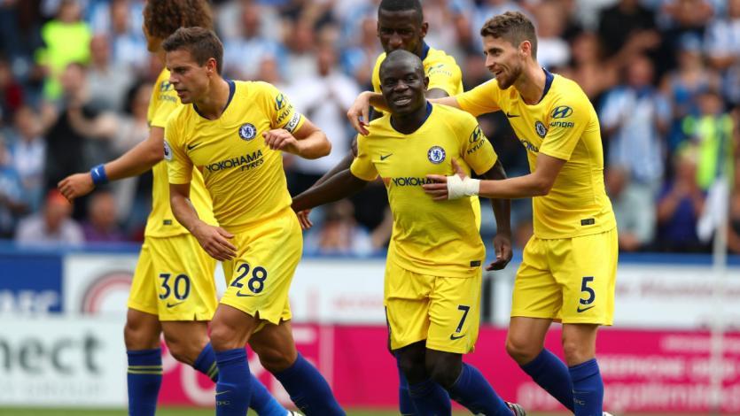 Chelsea inició la Premier League goleando al Huddersfield