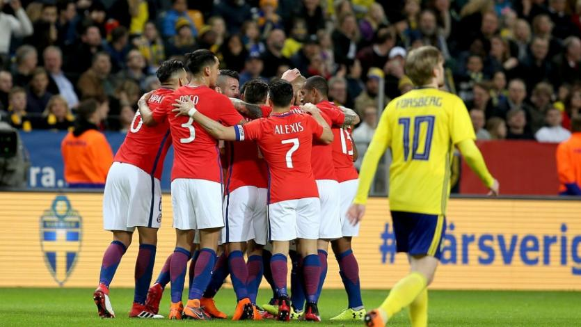 Chile derrotó a Suecia (2-1)