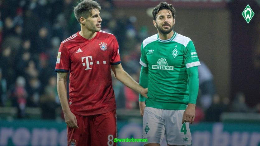 Werder Bremen perdió ante Bayern Munich con Claudio Pizarro
