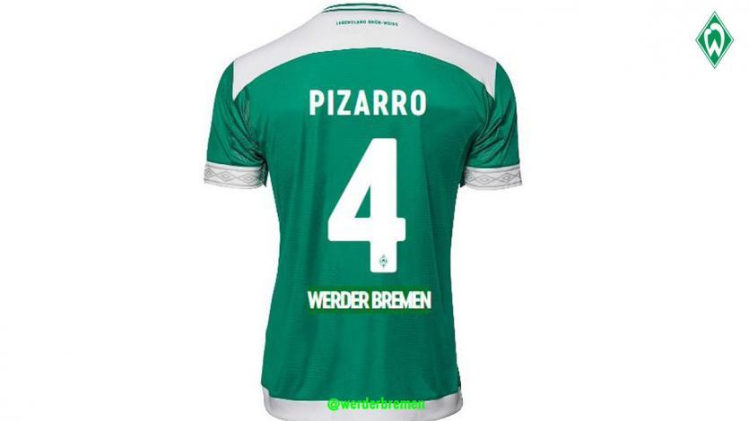 346e011356 Claudio Pizarro lucirá la camiseta  4 en Werder Bremen