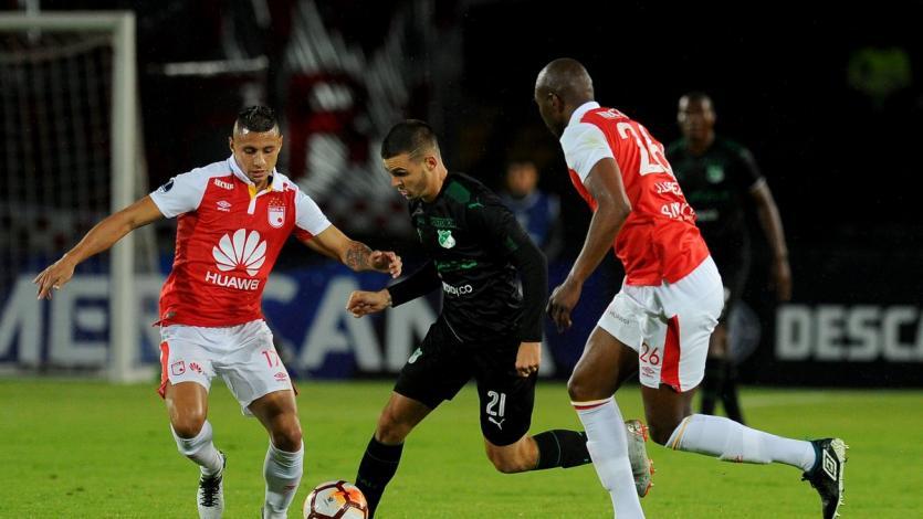 Copa Sudamericana: Santa Fe y Deportivo Cali empataron en Bogotá (1-1)