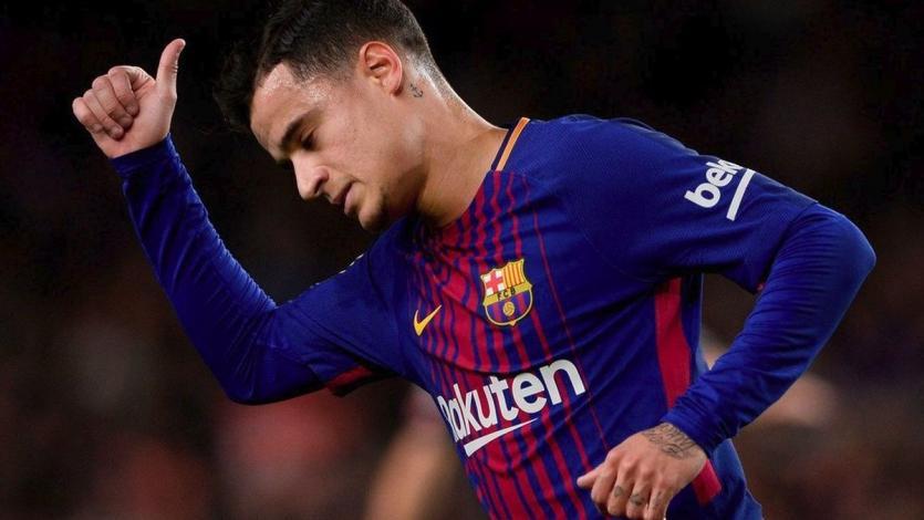 Coutinho anota su primer gol oficial con el Barcelona