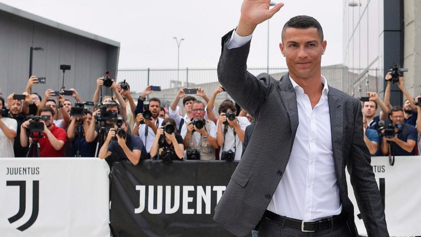 Cristiano Ronaldo llegó a Italia para unirse a la Juventus
