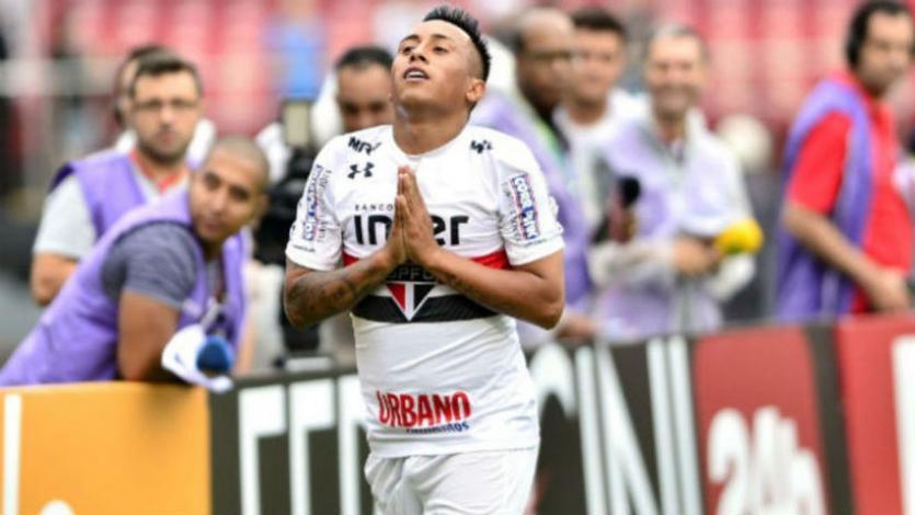 Christian Cueva no se mueve del once titular de Sao Paulo