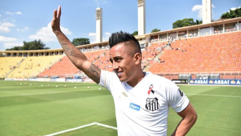 Christian Cueva debutó con la camiseta del Santos