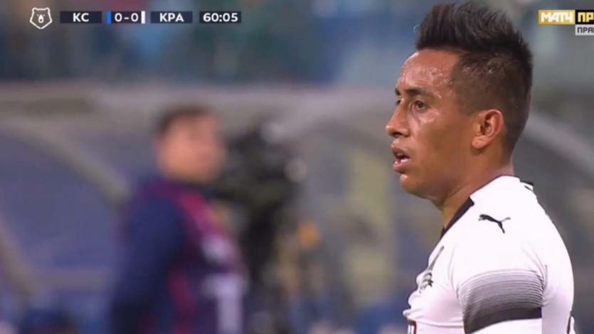 Christian Cueva jugó 60 minutos en la victoria del Krasnodar