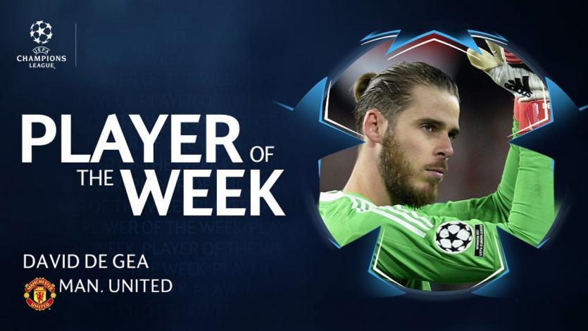 Champions League: David De Gea es el jugador de la semana