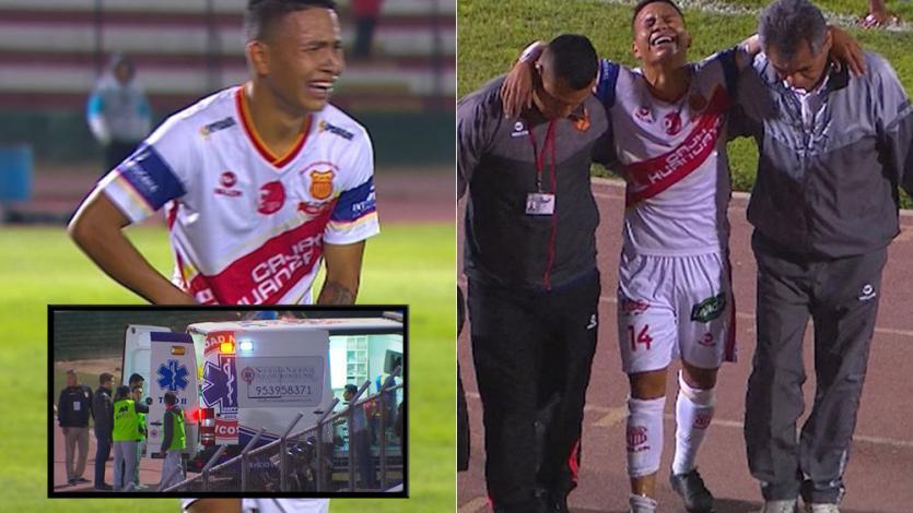 Jugador de Atlético Grau rompió en llanto tras lesionarse y fue atendido por la ambulancia
