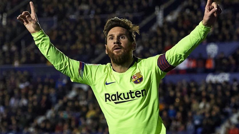 Barcelona golea al Levante con un Messi intratable