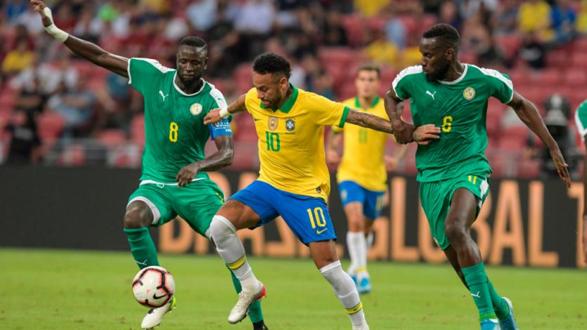 Con Neymar los 90', Brasil igualó 1-1 ante Senegal en duelo amistoso (VIDEO)
