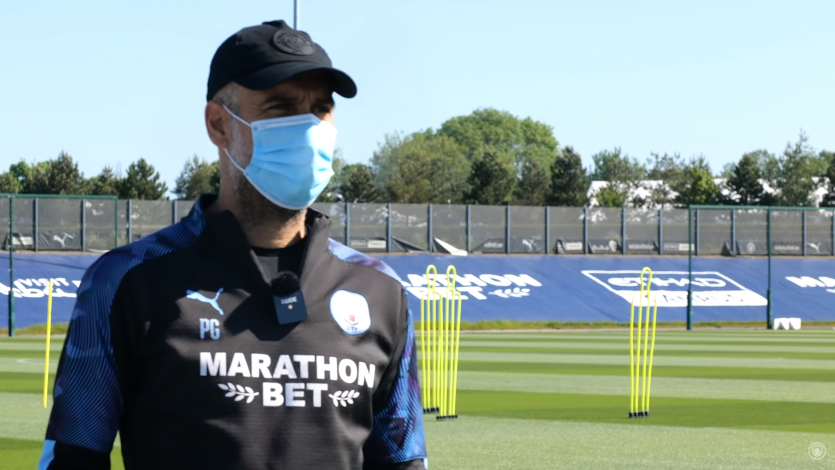 Premier League: Pep Guardiola feliz de volver a los entrenamientos (VIDEO)