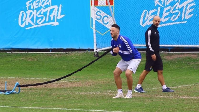 Sporting Cristal: así trabaja Emanuel Herrera en su recuperación al lado de Fernando Gilardi (VIDEO)