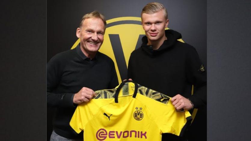 Borussia Dortmund dio la sorpresa en Europa al contratar al noruego Erling Haaland (VIDEO)