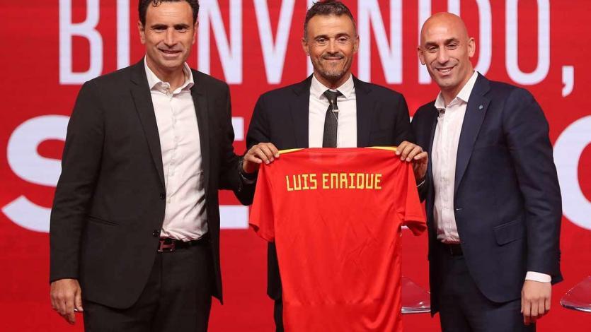 Luis Enrique fue presentado como nuevo entrenador de España