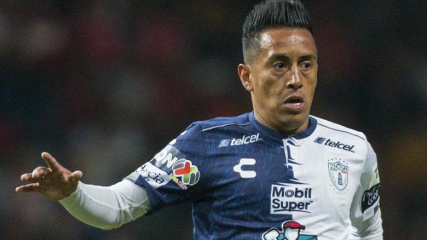 Christian Cueva sumó minutos en la derrota del Pachuca ante el Tijuana