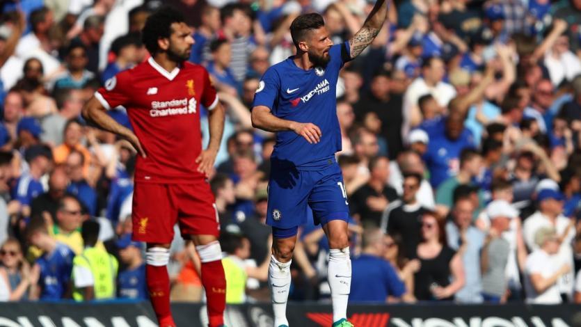 Gol de Giroud hace soñar al Chelsea en la próxima Champions League