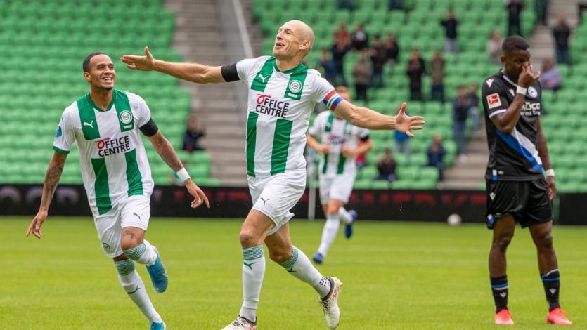 Arjen Robben volvió a marcar con el Groningen 18 años después (VIDEO)