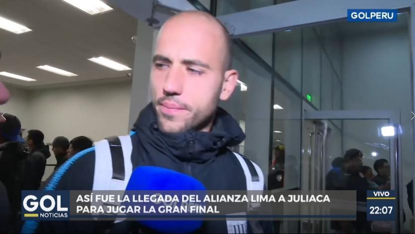 Federico Rodríguez al llegar con Alianza Lima a Juliaca: