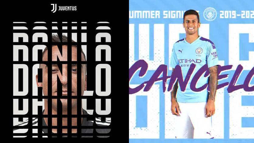 Juventus y Manchester City cierran los traspasos de Danilo y Joao Cancelo