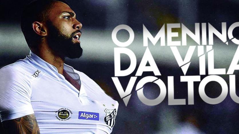 Gabigol firma su regreso al Santos