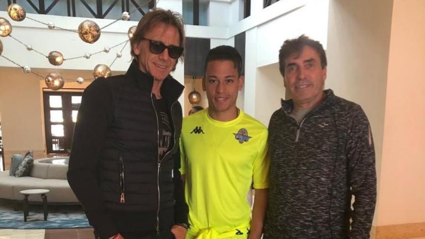 Selección Peruana: Ricardo Gareca visitó a Cristian Benavente