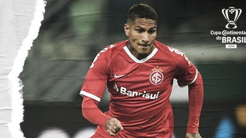 Paolo Guerrero volvió a jugar con el Internacional tras disputar la final de la Copa América