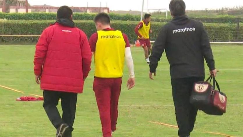 Universitario de Deportes: Henry Vaca sufrió duro golpe durante partido de práctica en Campo Mar