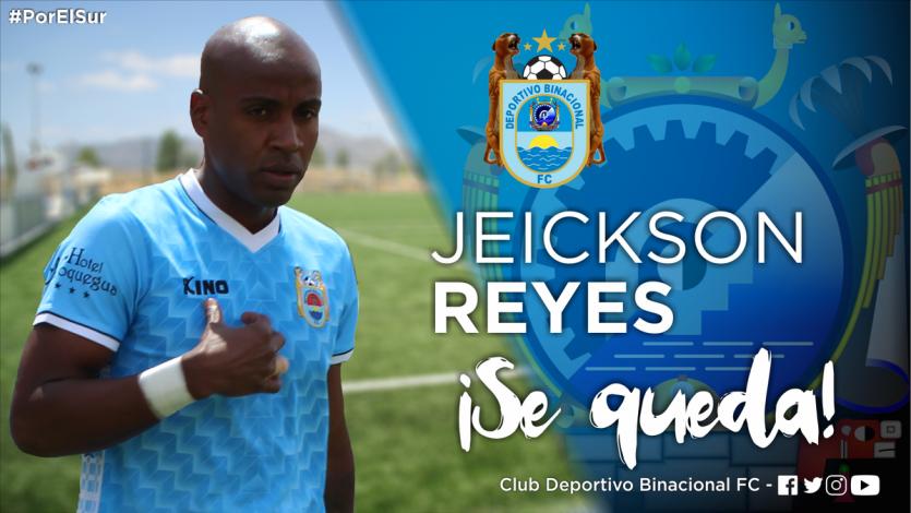 Jeickson Reyes se queda en Deportivo Binacional