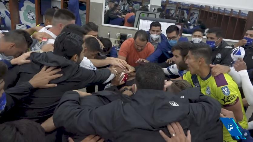 La motivadora arenga de Juan Reynoso en una nueva victoria de su Puebla